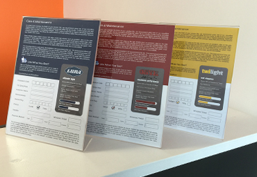 Global Tint Warranty Cards